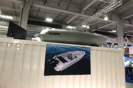 The 3layer ROTO BOAT Adriatic one of the biggest attraction the Norwegian International Boat Show 2019