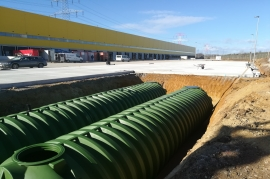 ROTO TANKS, to storage water at DHL logistic center in Vienna